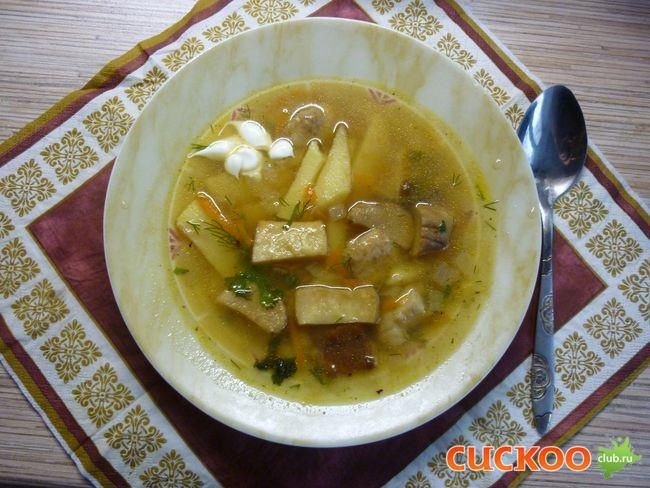 Суп из белых грибов свежих рецепт пошагово